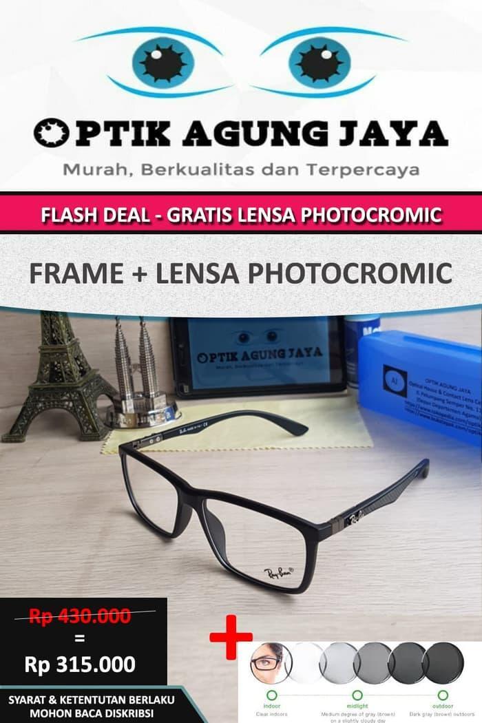 Promo: Promo Special Frame+Lensa Photocromic Frame Kacamata Minus Rayban 02 - ready stock