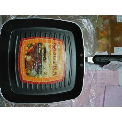 Panggangan Bbq Supra Square Grill Pan 27Cm Teflon - Echwnp