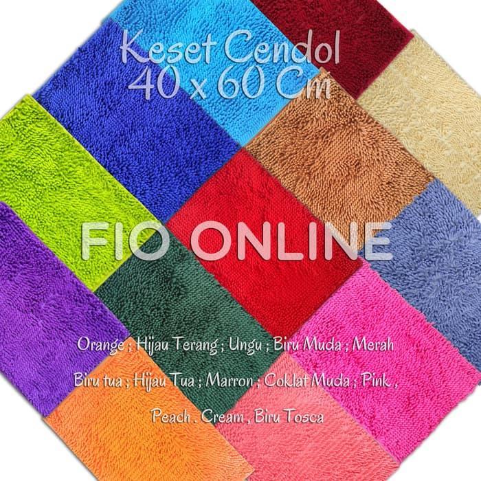 ... Dof Mocca 40 x 60 cm karpet bulu / doormat chenille Cream. IDR 29,000 IDR29000. View Detail. Keset Cendol Microfiber / Anti Slip / licin / karpet de