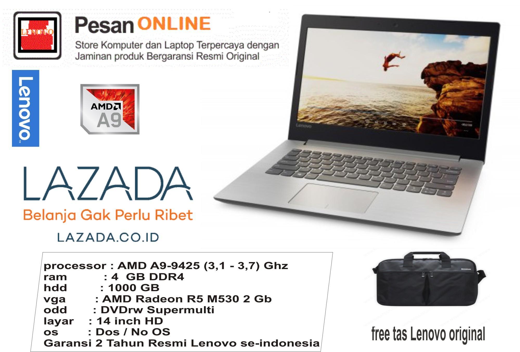Lenovo IdeaPad 330 -14AST AMD A9 -9425 RAM 4GB HDD 1TB VGA Radeon R5 530 2GB Dedicated 14 inch HD Garansi 2 Tahun Resmi Lenovo Indonesia