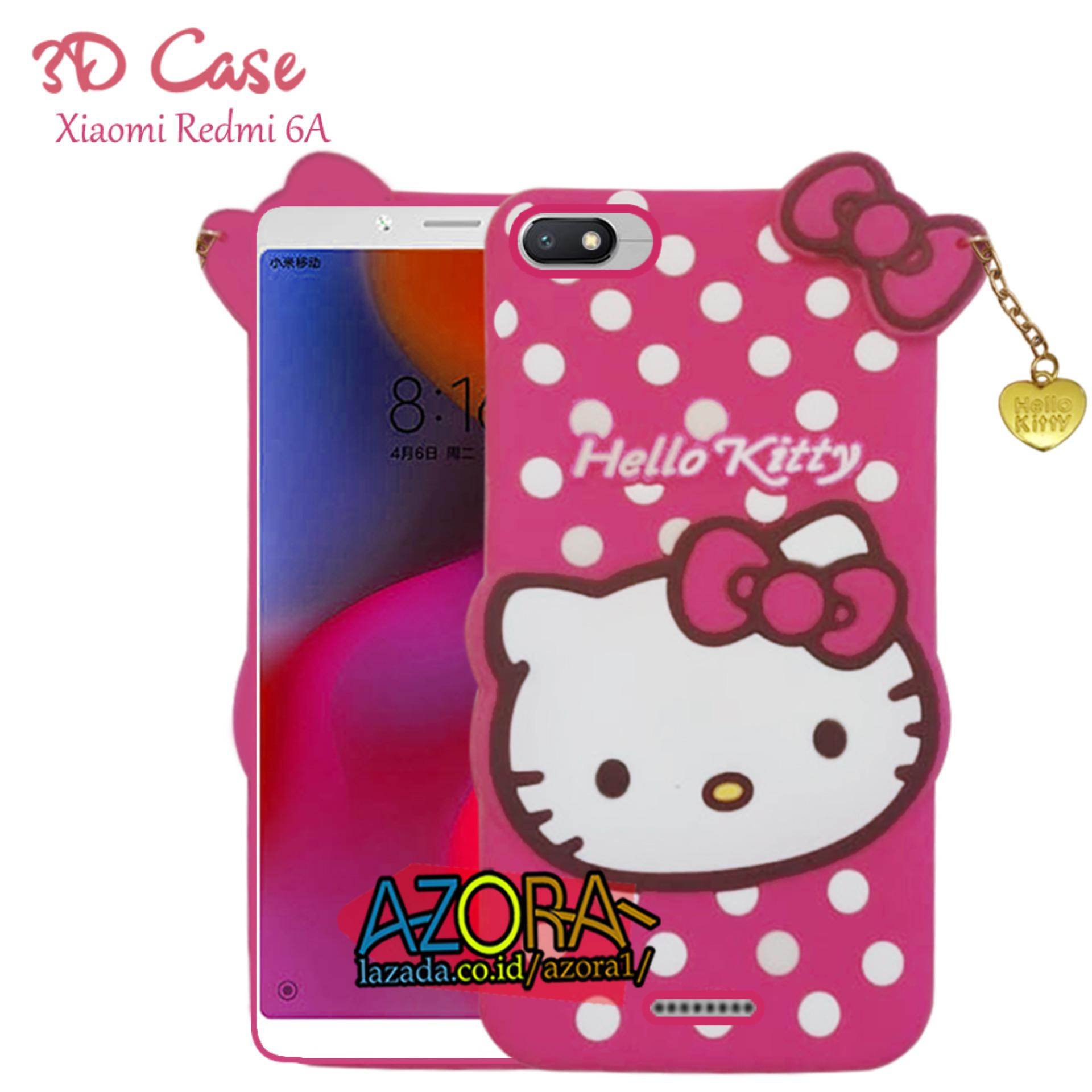 3D Case Xiaomi Redmi 6A Softcase 4D Karakter Boneka Hello Kitty Poolkadot Doraemon Lucu Character Cartoon