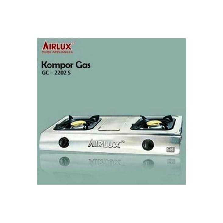 AIRLUX Kompor Gas 2 Tungku GC-2202S Stainless Steel