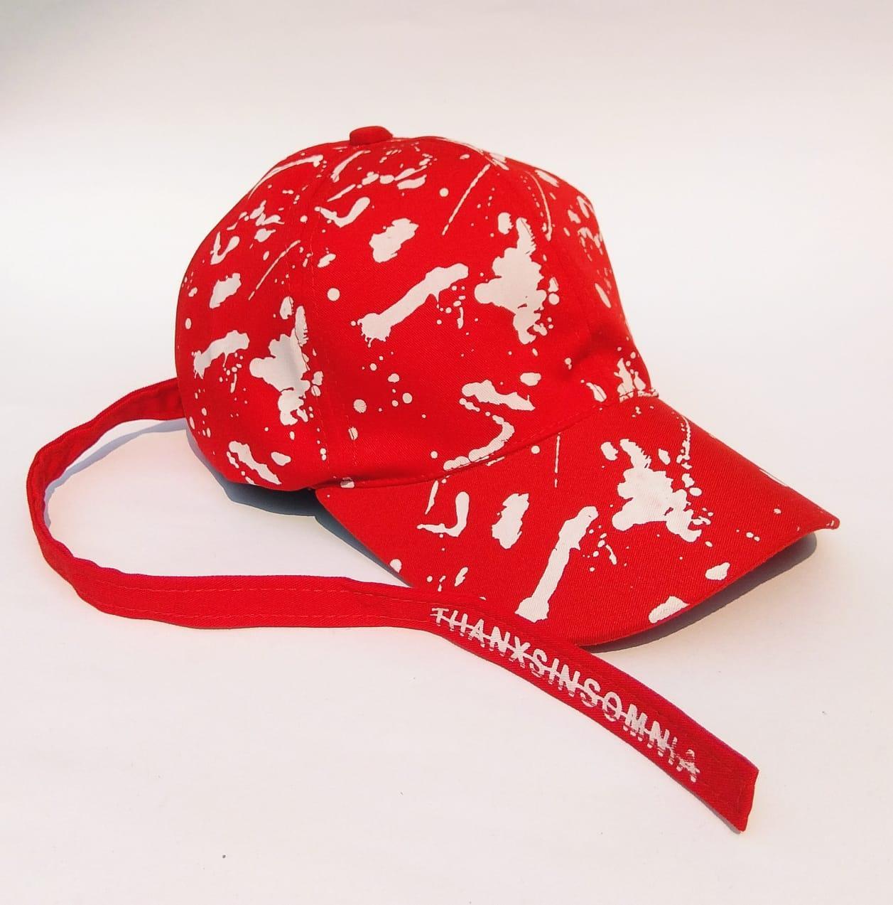 Topi pria distro baseball tali panjang printing / snapback baseball printing