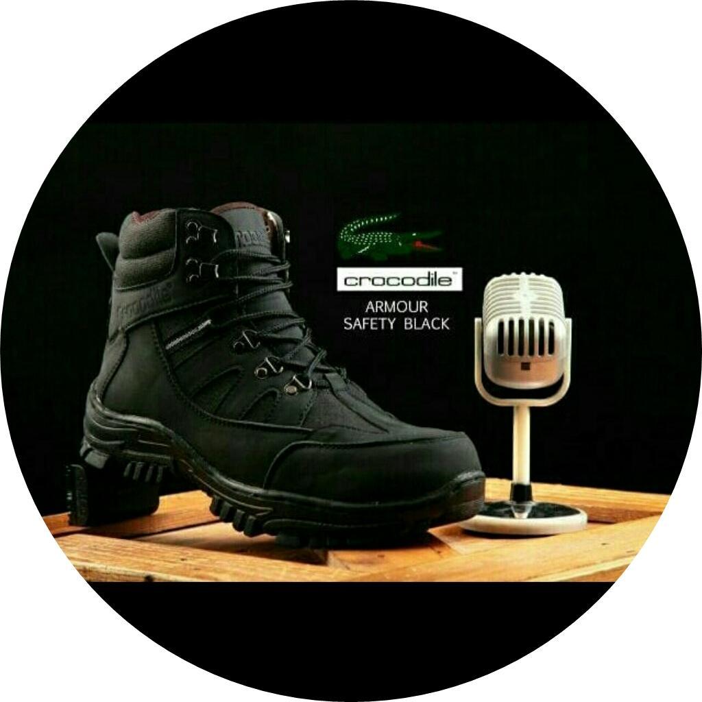 Stok selalu ready Sepatu Pria Crocodile Armour Safety Boots / Sepatu Kerja / Sepatu Adventure Touring / Proyek