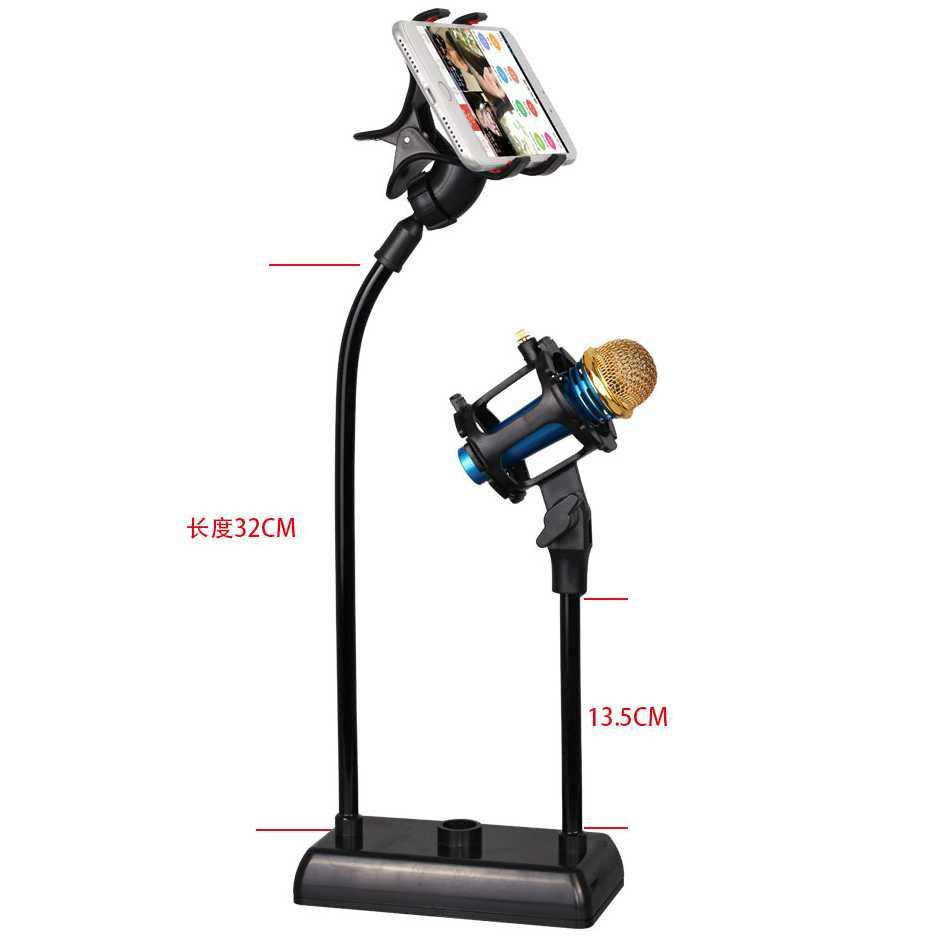 Buy Sell Cheapest Promo Lazypod Mobil Best Quality Product Deals Jepitan Narsis Flexible Stand Mikrofon Dan Smartphone Holder