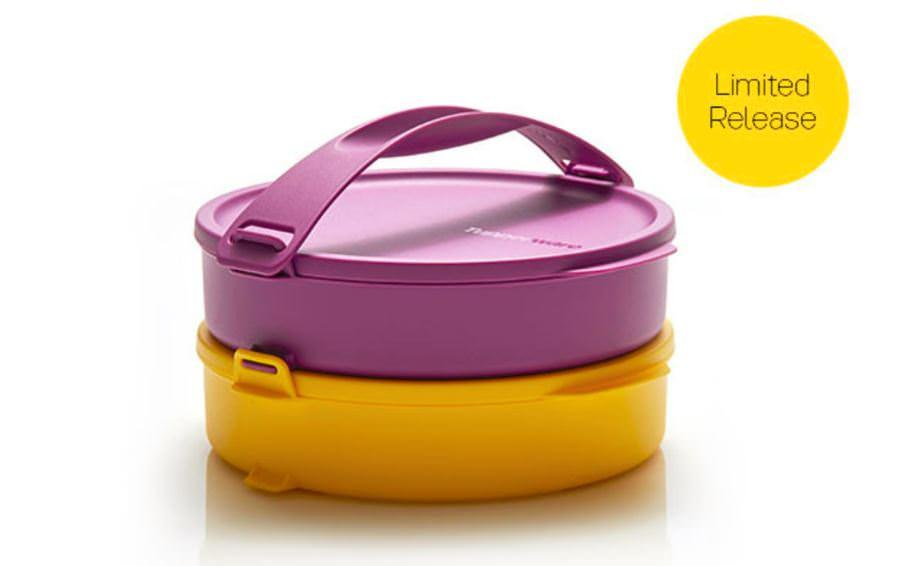 Click to go round Purple Yellow rantang susun Tupperware