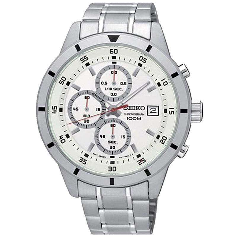 Seiko Chronograph - Jam Tangan Pria - Silver - Stainless Steel - 755S