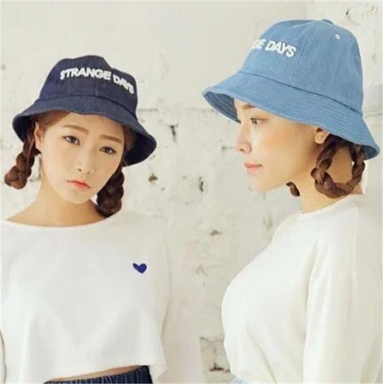 Topi Buket Gaya Korea Kain Jeans Topi Musim Semi dan Musim Panas Pelindung  Terik Matahari bdfee1c17f