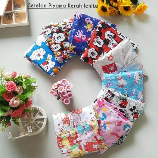 Baju Tidur / Piyama Anak Size KIDS (0-5 thn) MOTIF CEWEK