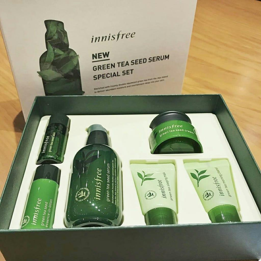 Buy Sell Cheapest Paket Innisfree Green Best Quality Product Deals Tea Balancing Special Kit 4 Items Seed Serum Set 6