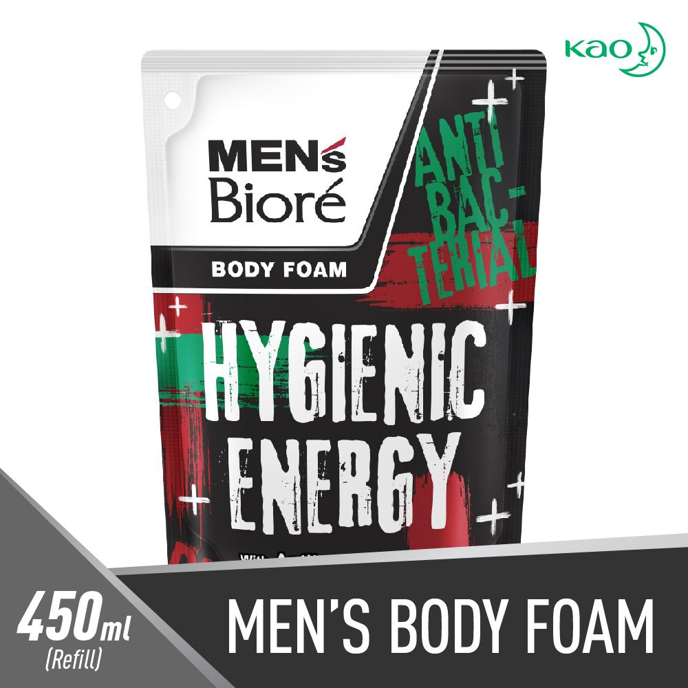 Mens Biore Body Foam Hygienic Energy Pouch - 450ml By Lazada Retail Biore.