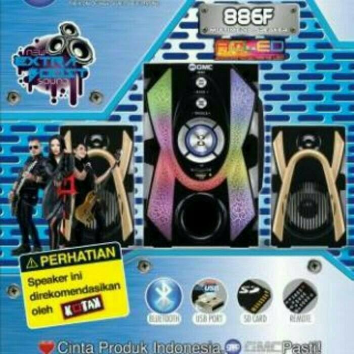 GMC 886F Bluetooth Multimedia Speaker Aktif 2.1Ch - Active Subwoofer