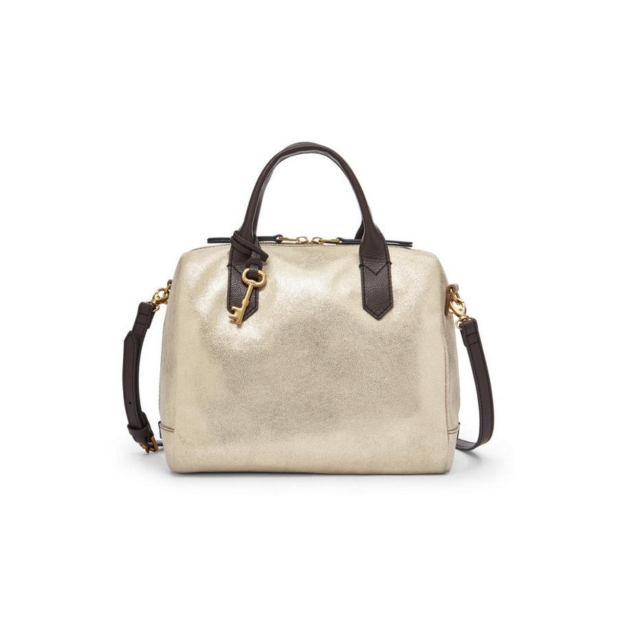 Fossil Emma Satchel Dancing Diamonds Zb6906p Black And White Es4090 Fiona Gold