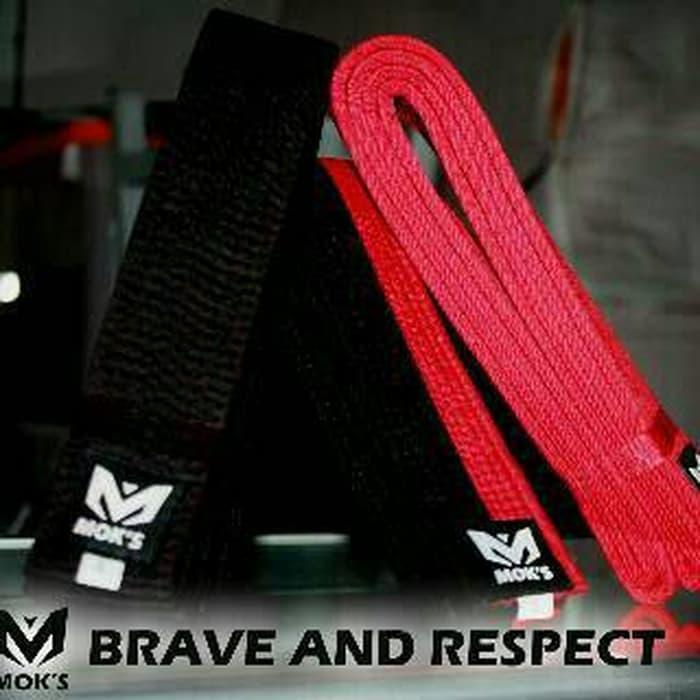 PROMO!!! Sabuk Taekwondo Moks Hitam Merah Poom - 8YUupa
