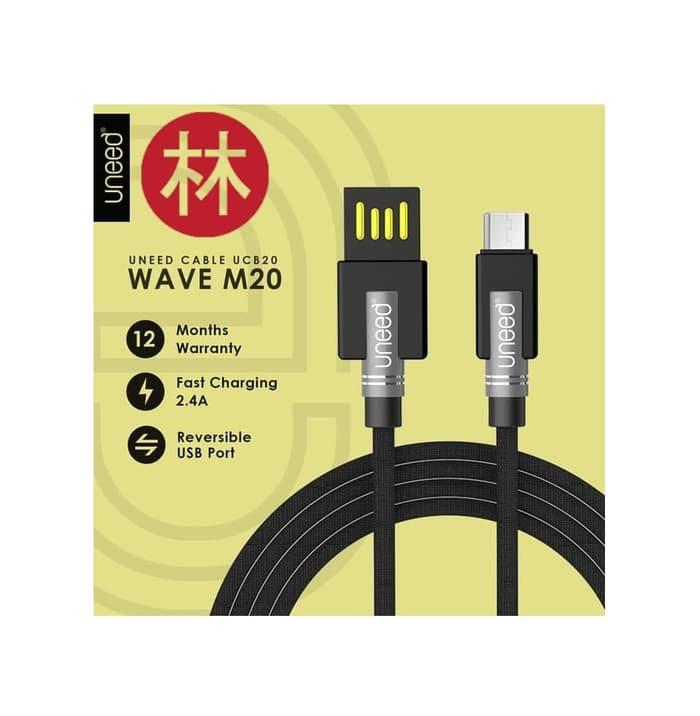 UNEED UCB20M Wave M20 Kabel Data Micro USB Fast Charging 2.4A