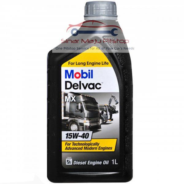 Pelumas Oli Mesin Diesel MITSUBISHI PAJERO SPORT - TOYOTA FORTUNER - TOYOTA INNOVA - MOBIL DELVAC MX 15W-40 1 Liter ORIGINAL IMPORT SINGAPORE