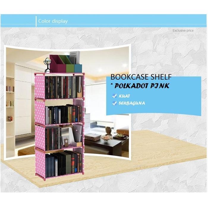 Anabelle Rak Buku Serbaguna 5 Susun Rak Portable Bookcase Bongkar Pasang