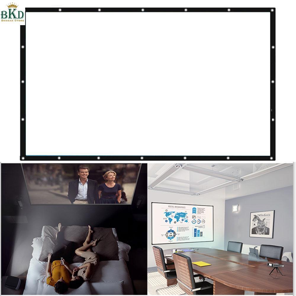 Bokeda Toko 16:9 Putih 100 Inch Layar Proyektor Proyektor Tirai By Bokeda Store.