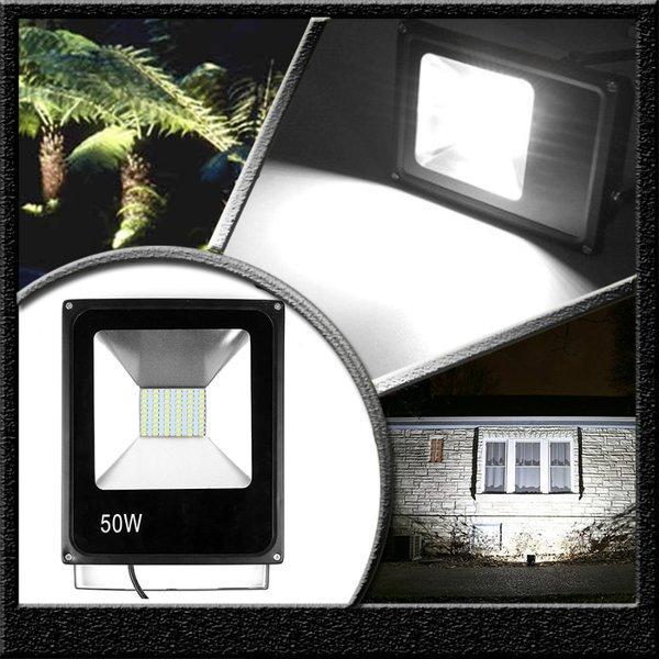 lampu sorot led tembak 50W 50 watt outdoor taman flood light anti air