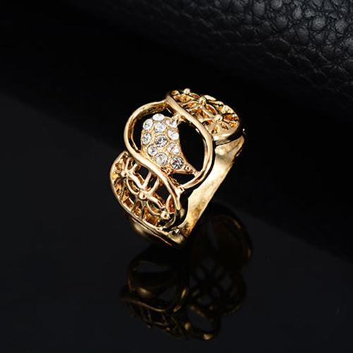 Bluelans® Hadiah pernikahan Crystal Choker kalung anting Bangle gelang cincin perhiasan Set