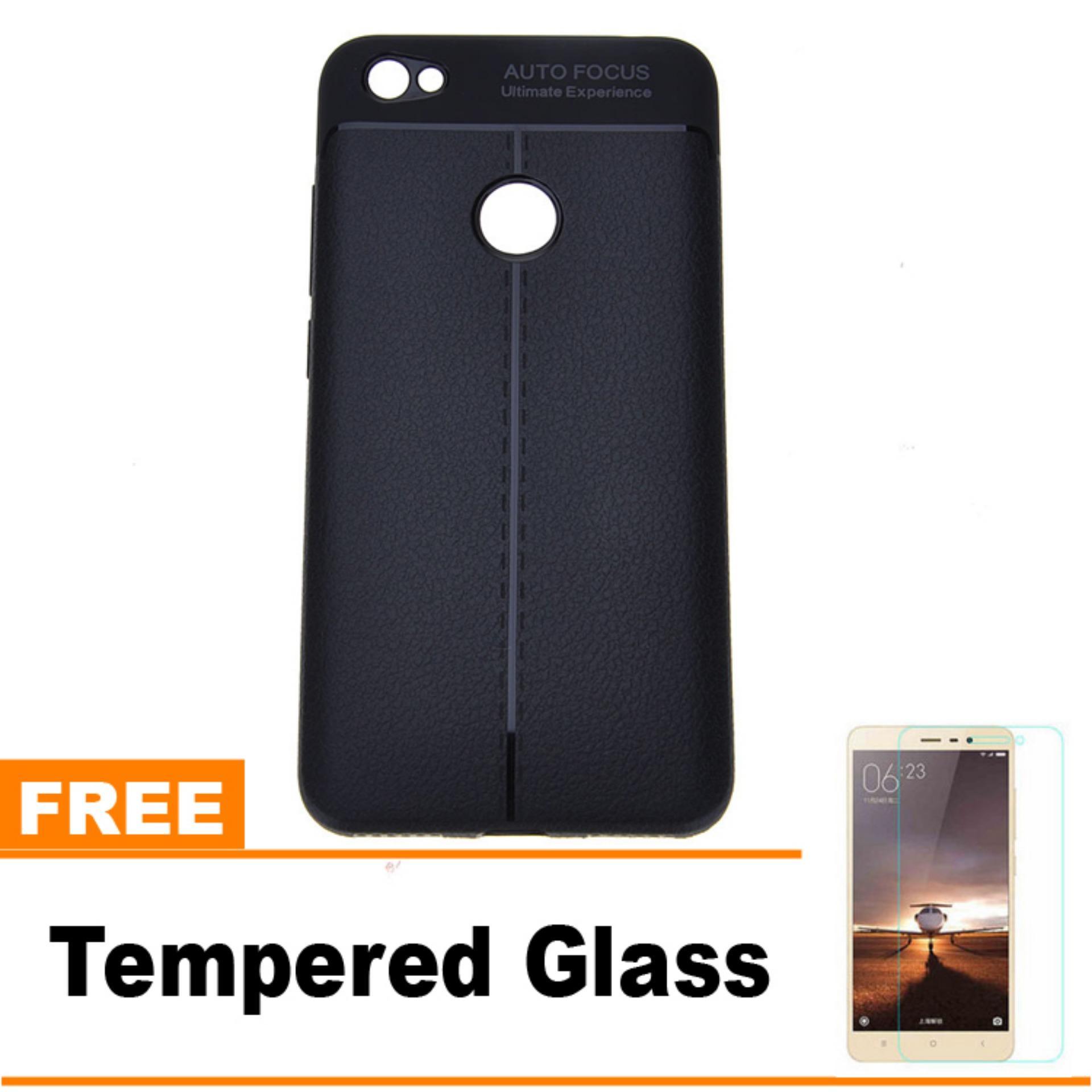 Original Lazada Case Auto Focus For Xiaomi Redmi 4x - Hitam - Hadiah Tempered Glass