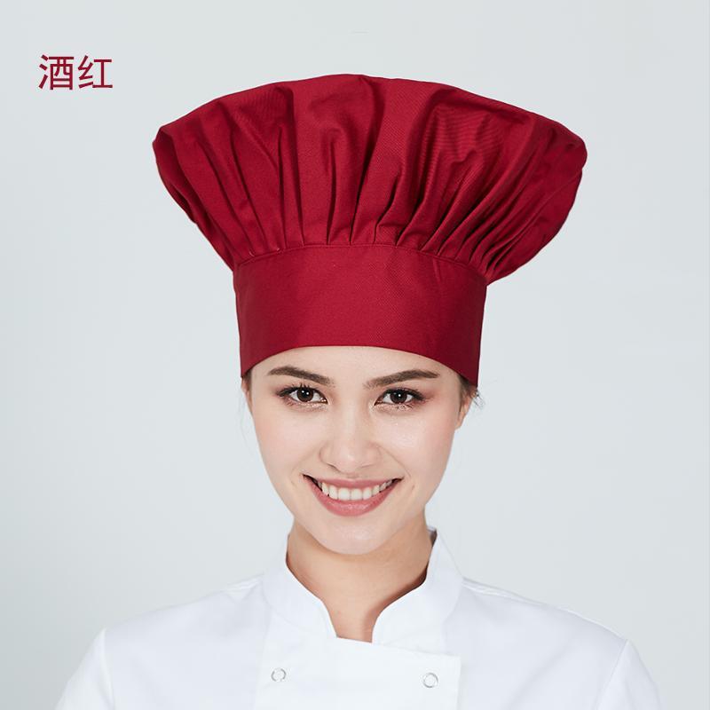 Topi Koki Hotel Topi Kain Pria atau Wanita Tinggi (Hitam)