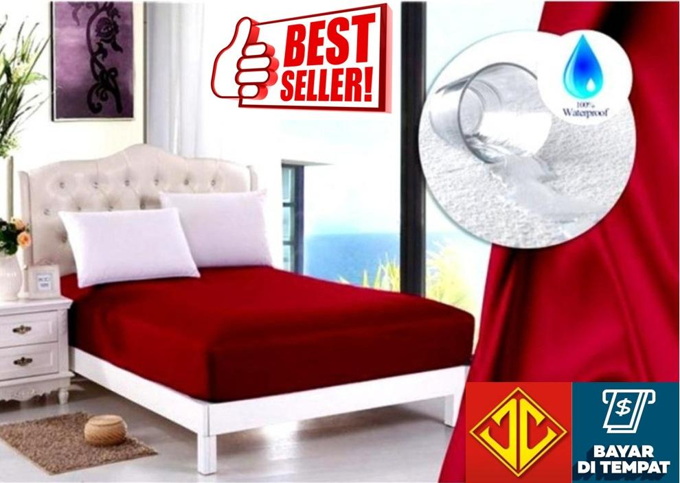 Jaxine Sprei Waterproof (Anti Air) Merah
