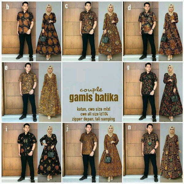 Fashion Neema Fashion Wanita / Pakaian / Atasan Wanita / Blouse & Kemeja Wanita Batik Gamis Couple Bisa Buat Seragam