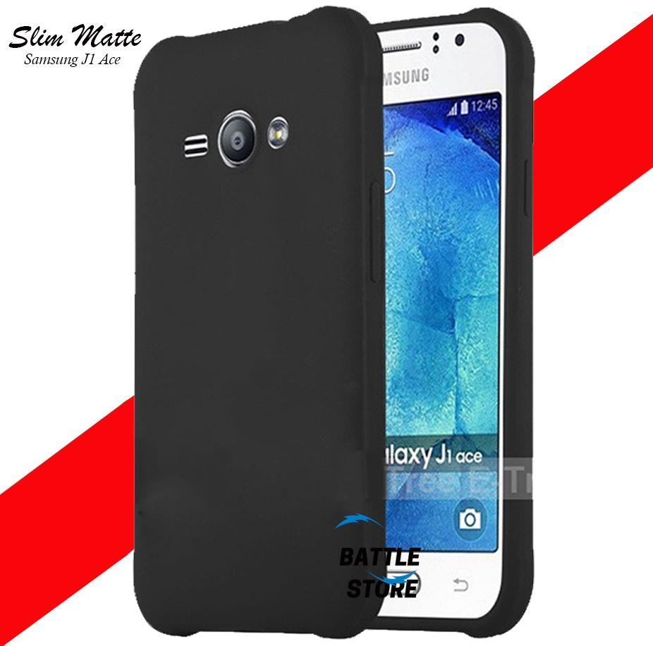 Silicone Soft Case Baby Skin For Samsung Galaxy J1 Ace ( J111f ) Case Luxury Matte Cover For Samsung Galaxy J1 Ace ( J111f ) - Black