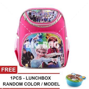 Daftar Harga Tas Ransel Anak Perempuan Karakter - Frozen Anna Elsa - Snow  Queen - FREE Lunchbox - School Bag Tas Sekolah Anak - Tas Anak Sekolah Tas  Anak ... a98a20452c