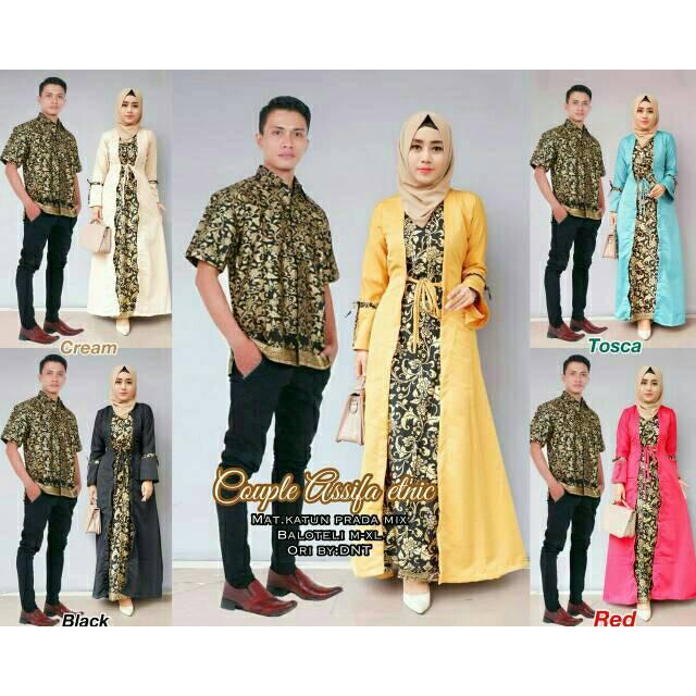 Zr Rania Couple 162000 Gamis Katun Busui Kombinasi Batik Katun Source · Baju Couple Sarimbit Batik Gamis Wanita Mayang Hitam BusuiIDR229900 Rp 230 000