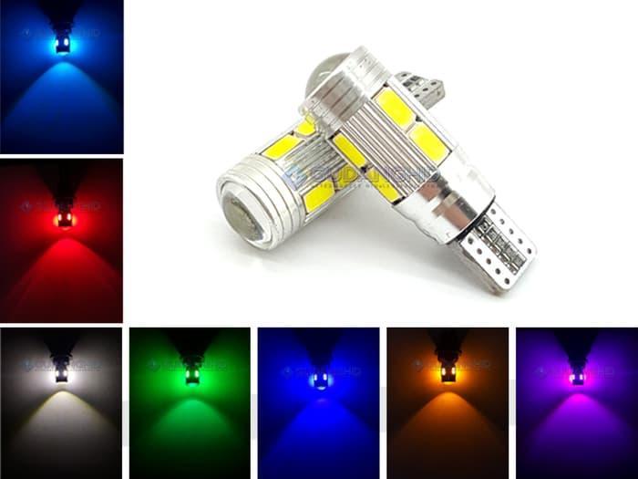 Stok Ready Spextrum LED Lampu Senja T10 5630 5730 10 Mata + Lensa CANBUS 12V 5W