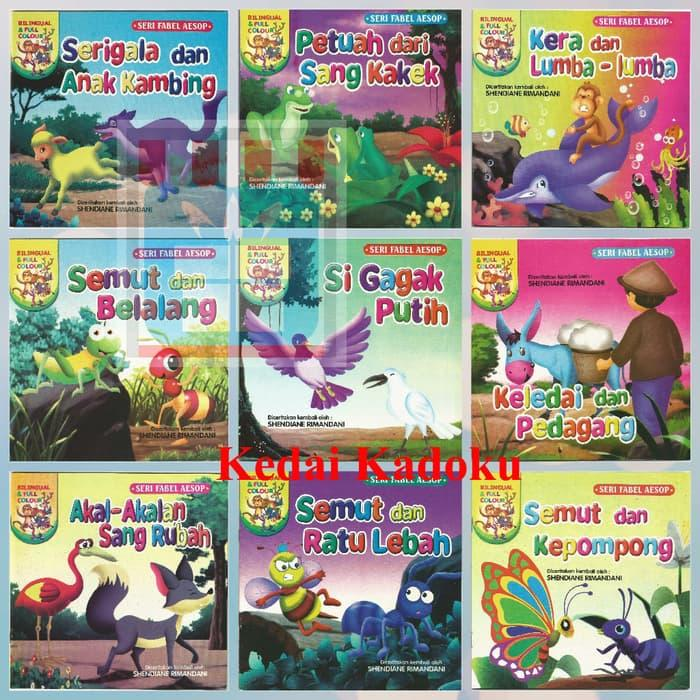 Buku Anak Buku Cerita Bergambar Seri Fabel Bilingual Fu