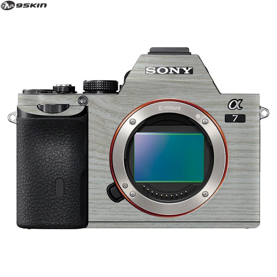9Skin - Premium Skin Protector untuk Kamera Mirrorless Sony A7 - Tekstur Wood - Putih