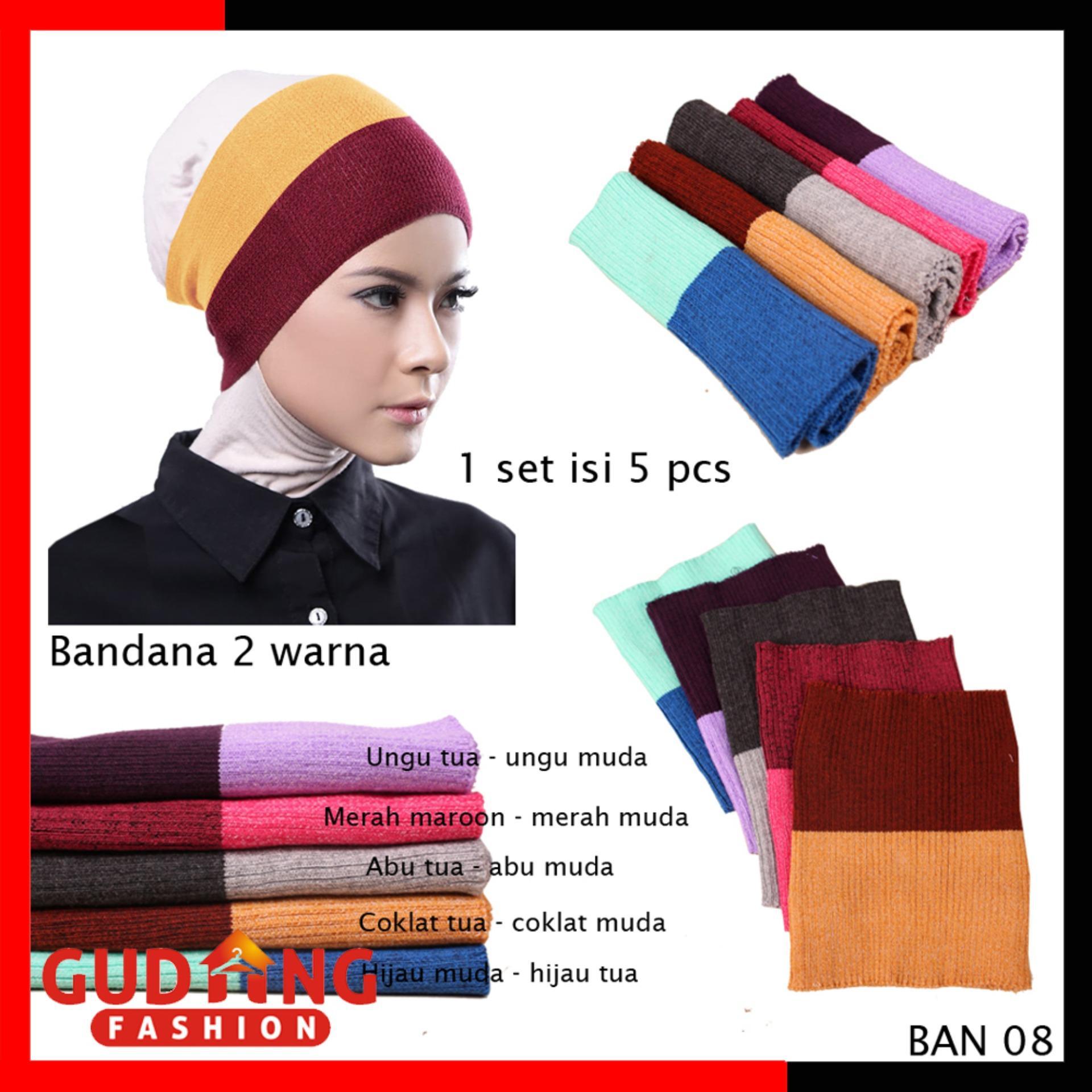 Gudang Fashion - Bandana Daleman Jilbab / Daleman Kerudung Bandana Isi Pcs - Kombinasi Warna