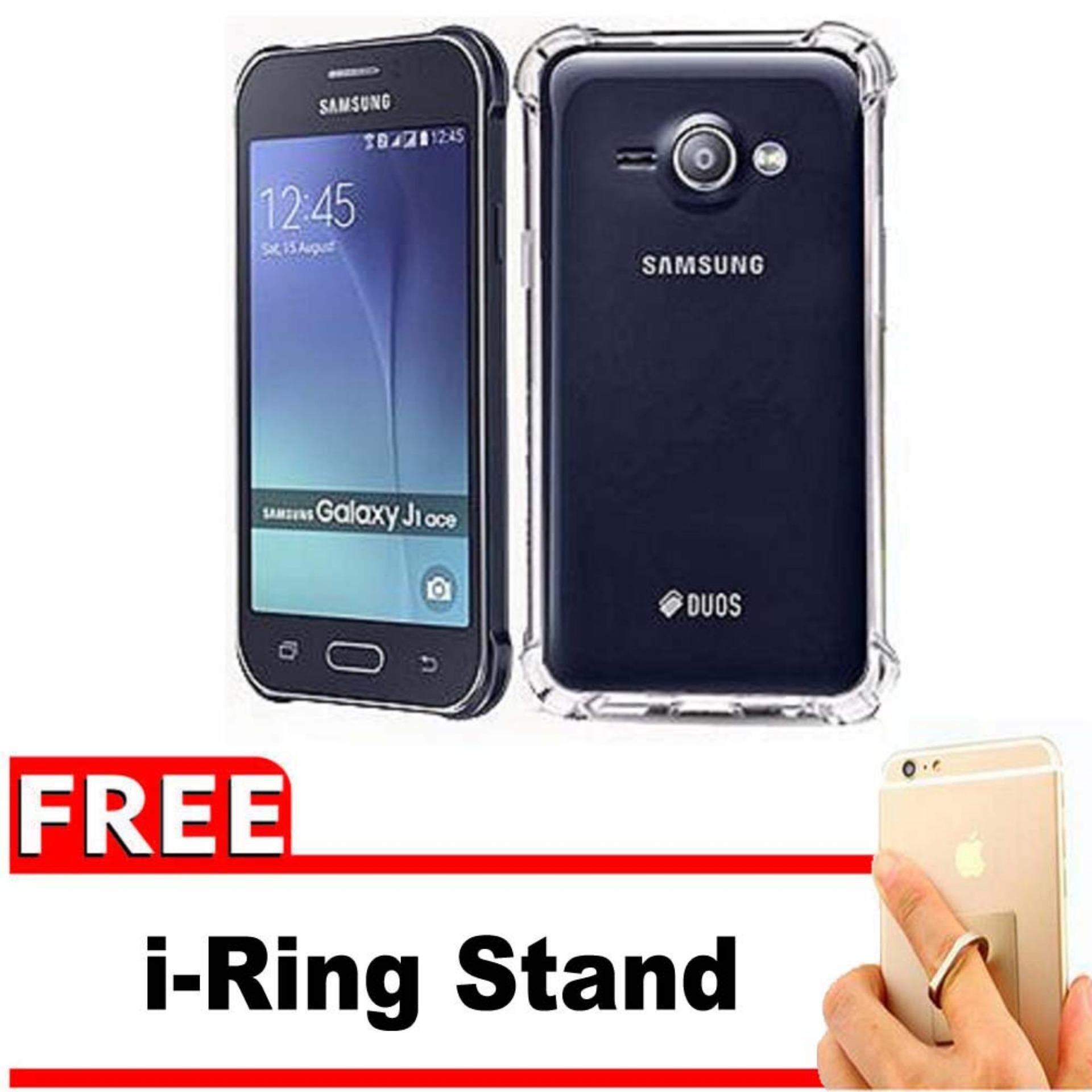 ShockCase for Samsung Galaxy J1 Ace / J110 / 4G LTE / Duos | Premium Softcase Jelly Anti Crack Shockproof - Gratis Free iRing Stand Phone Holder - Transparan