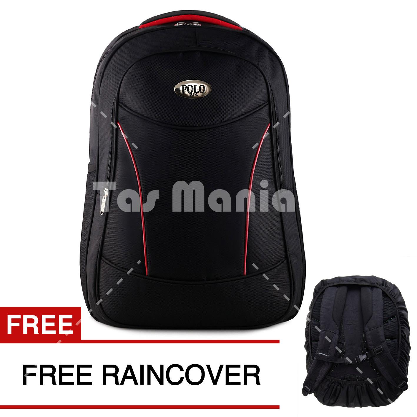 Tas Ransel Pria Polo USA Black Viper Dailypack Tas Laptop Backpack + Raincover FREE Promo Diskon Import Kulit Polo Classic Milano Real Polo Power Original Alto Eiger Bodypack Consina Xiaomi Asus Palazzo Polo Team Kuliah Termurah Terlaris Best Seller