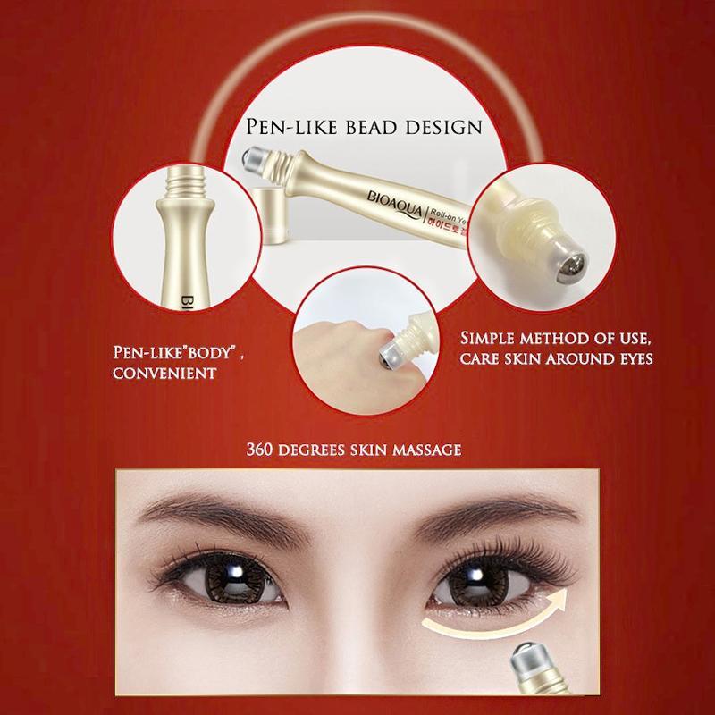 Spesifikasi dari 2pcs Bioaqua Eye Essence Bright Eyes Ball Design - Serum Mata Penghilang Mata Panda - Penghilang Kantung Mata