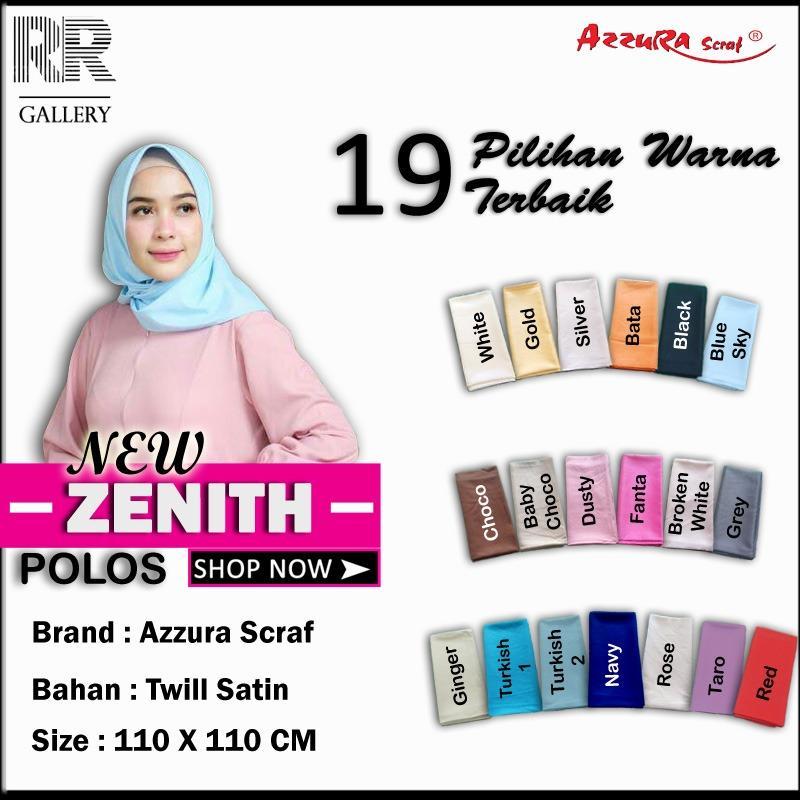 Hijab Segi Empat Zenith ORIGINAL BY AZZURA SCARF - Jilbab kerudung motif polos