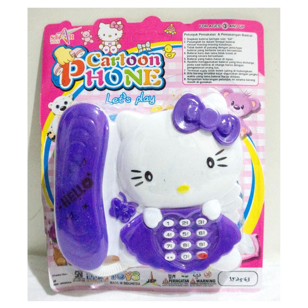 Mainan telepon karakter Hello Kitty - Cartoon phone