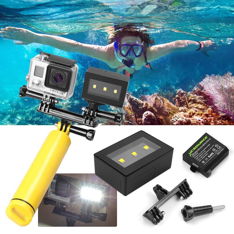 Underwater Waterproof Camera Spot Light LED Mount Set Kit for GoPro Hero 4 OS761