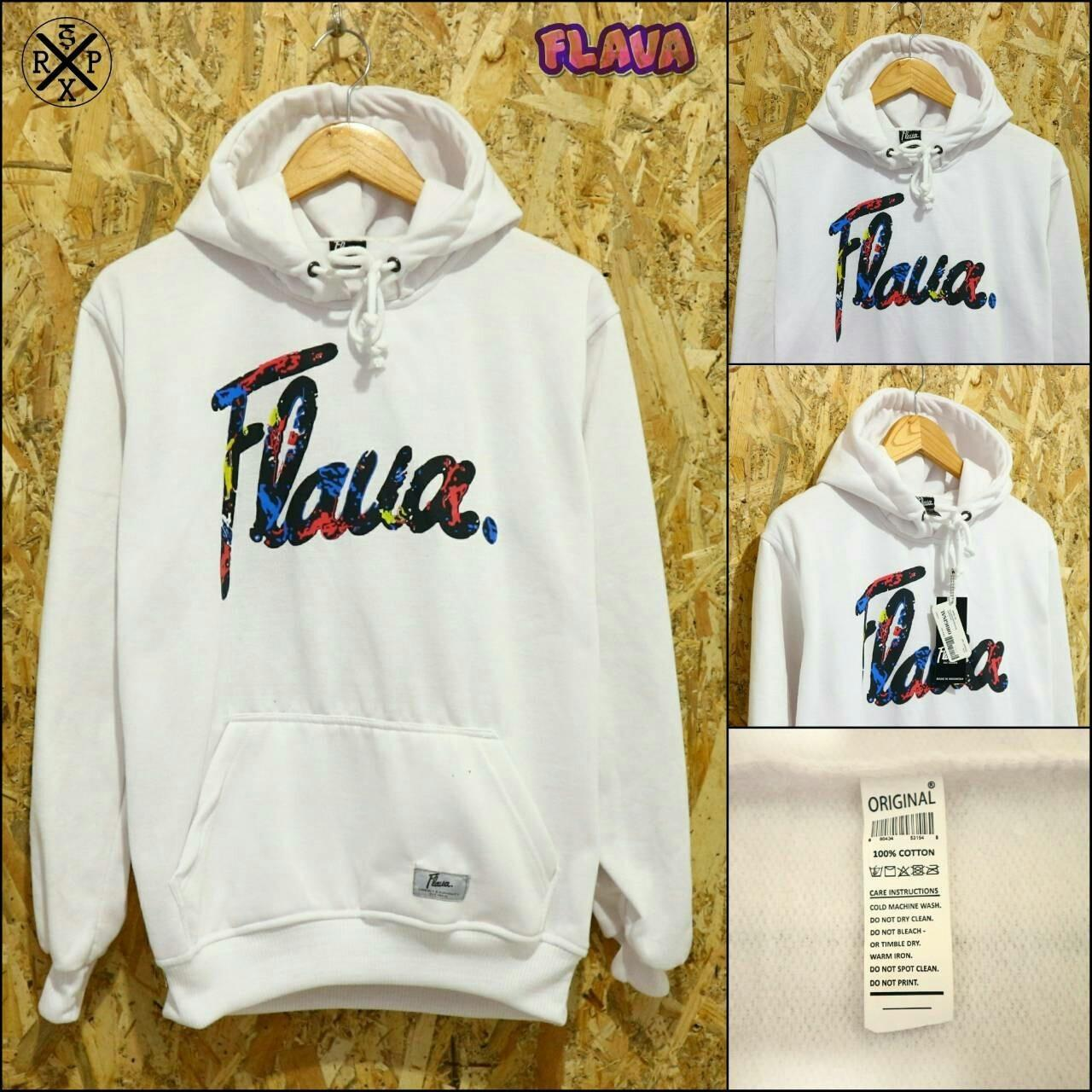 WEAR Jaket Sweater Hoodie Flava White