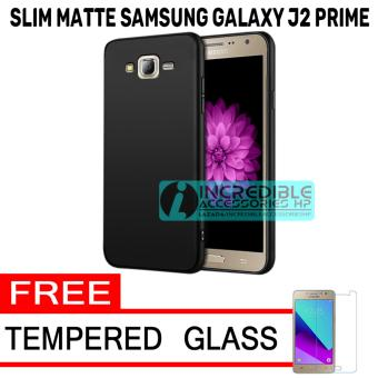 Price Checker Anti Fingerprint Ultraslim Hybrid Case Baby Soft Babby Skin Softase Silicon Matte for Samsung Galaxy J2 Prime - Black + Free Tempered Glass ...