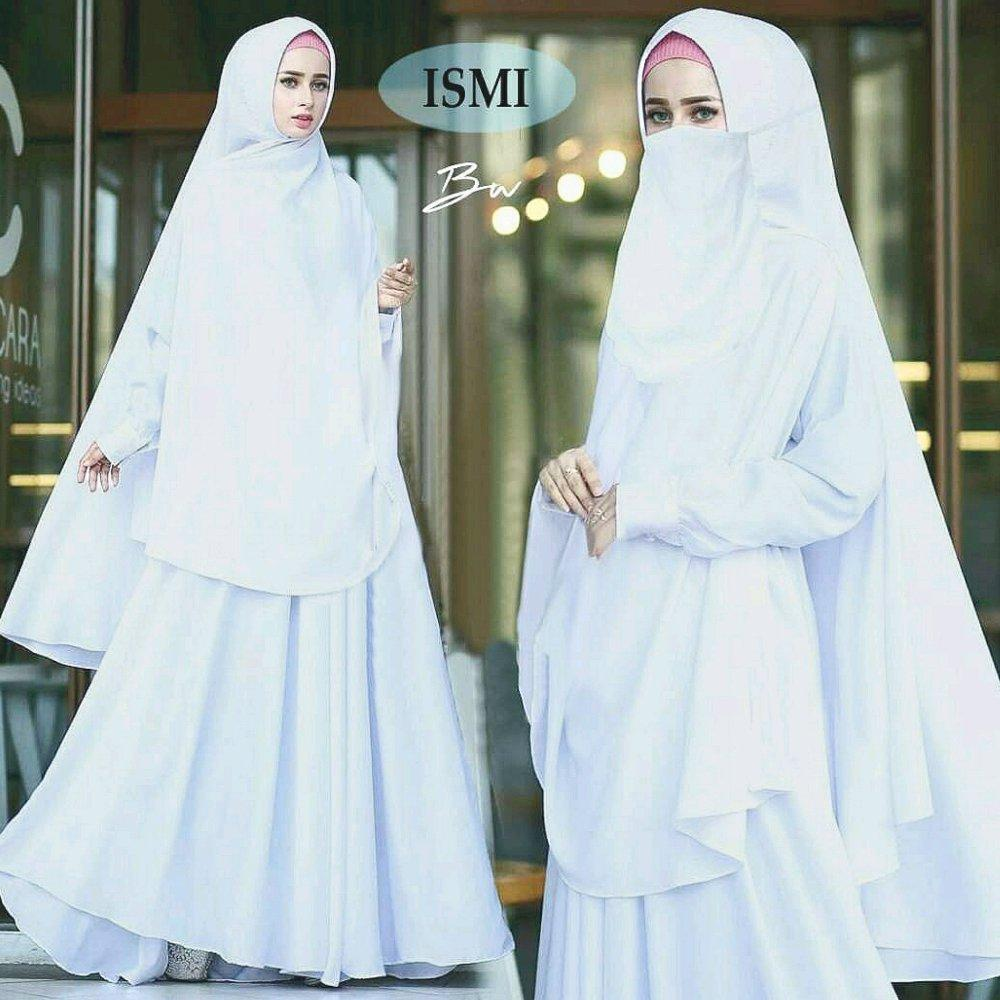 Ismi Syari Gamis Maxi Dress Polos Jumbo fit M to XXL Plus khimar free cadar niqob di lapak anayanda shop anayandashop