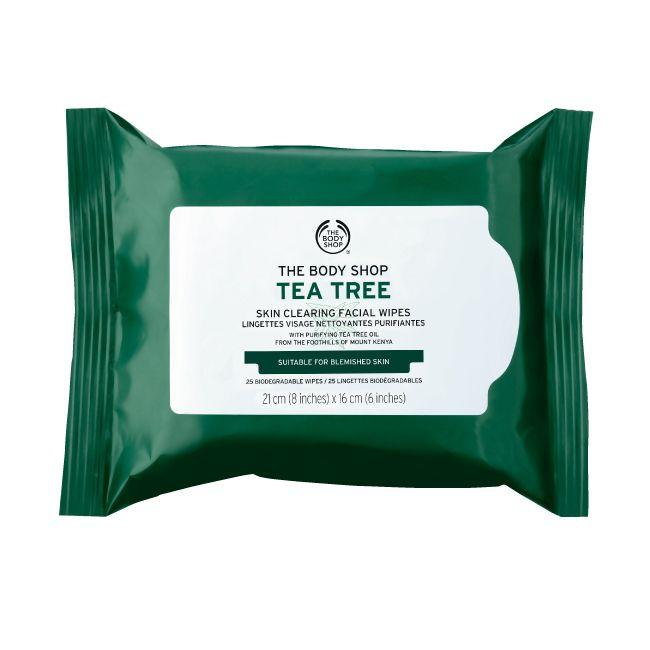 The Body Shop Tea Tree Skin Clearing Facial Wipes 25 Wipes
