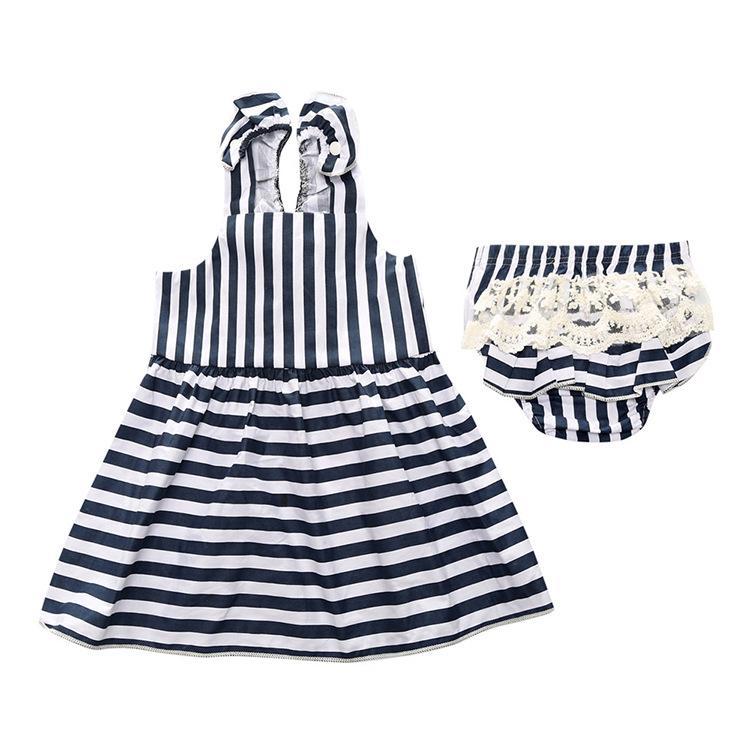 Bayi Putri Gaun Anak Rok Gadis Kecil Baju Setelan (Putih Atasan + Celana Dalam Segitiga)