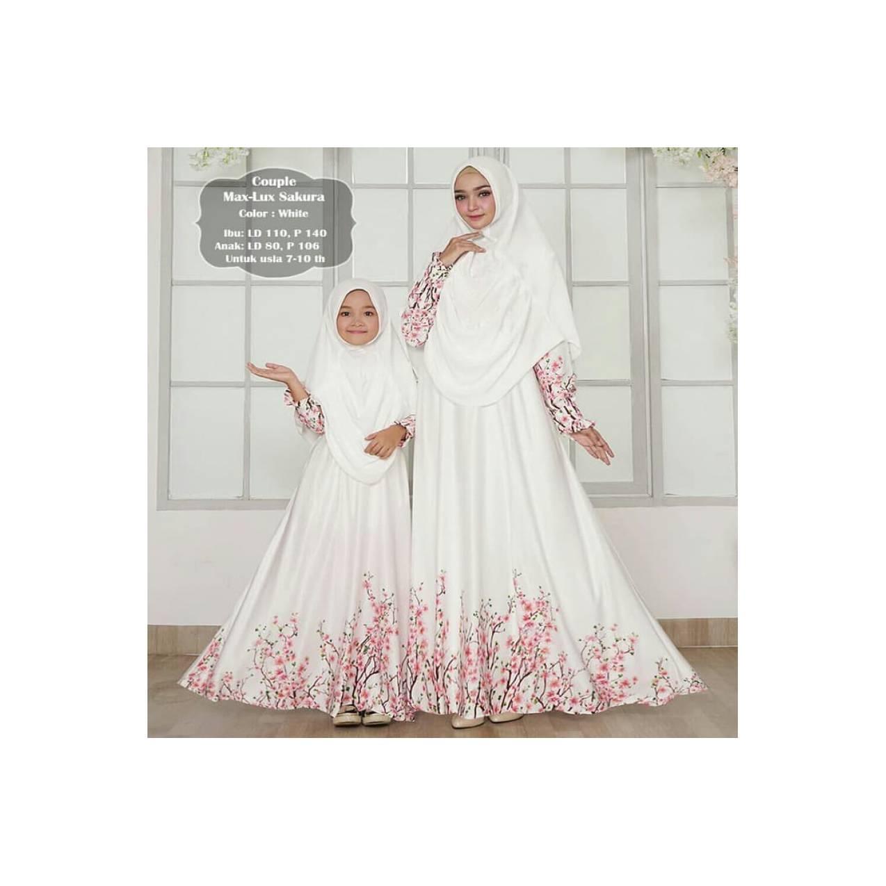 DRESS MUSLIM gamis couple ibu dan anak / gamis couple muslim diana 6