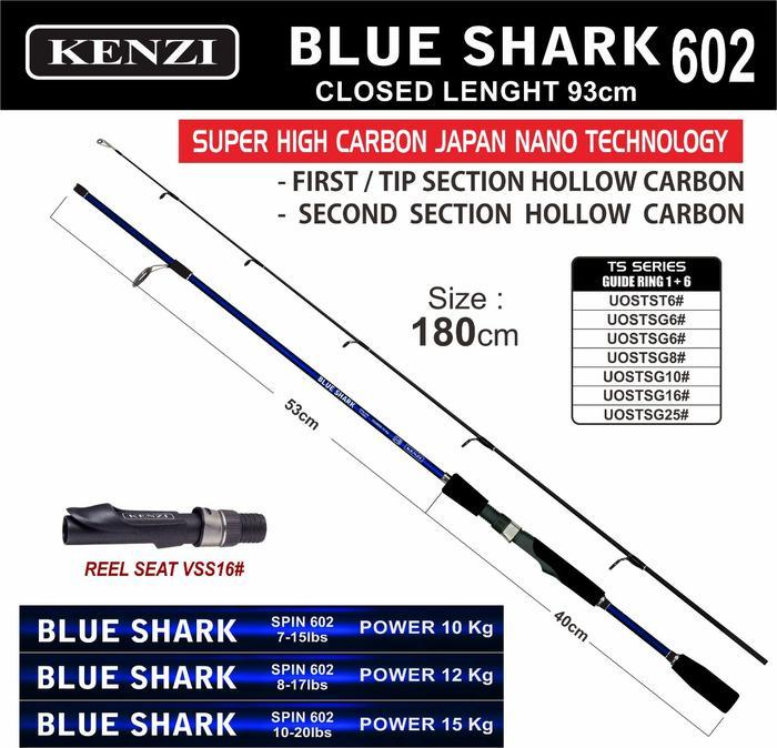 PROMO!!! JORAN SPINNING KENZI BLUE SHARK 180 17LB - E6vCiK
