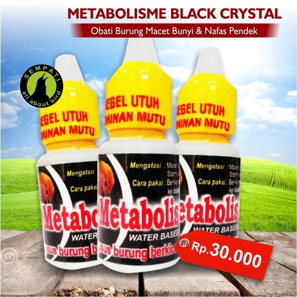 Metabolisme Black Crystal BMW Obat Burung Sakit Macet Bunyi