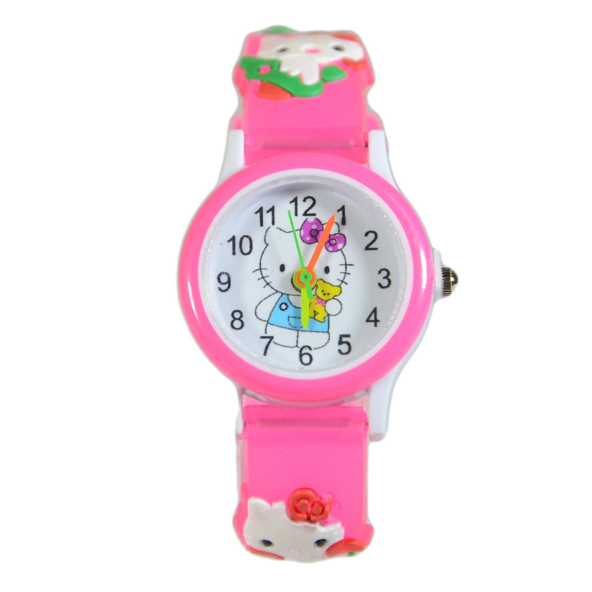 DnB COLLECTION Jam Tangan Anak Hello Kitty - Dark Pink